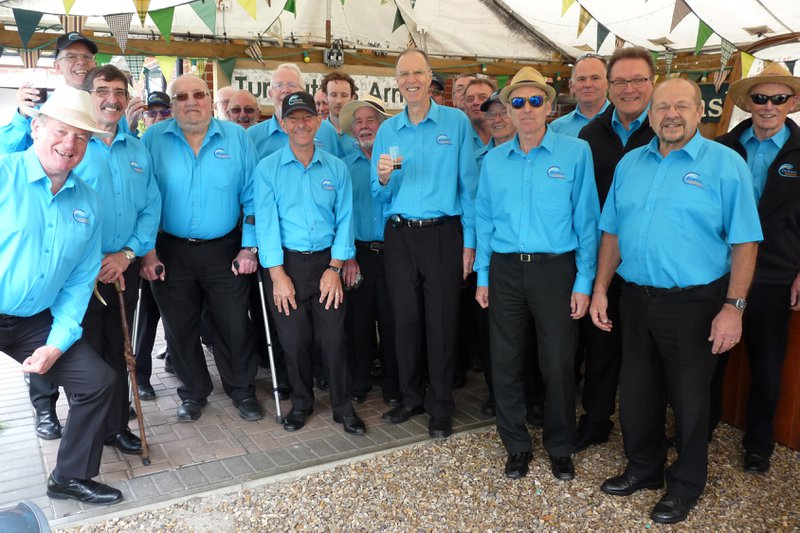 Here's John with Ocean Harmony at a singout at the Turfcutters Arms, East Boldre.