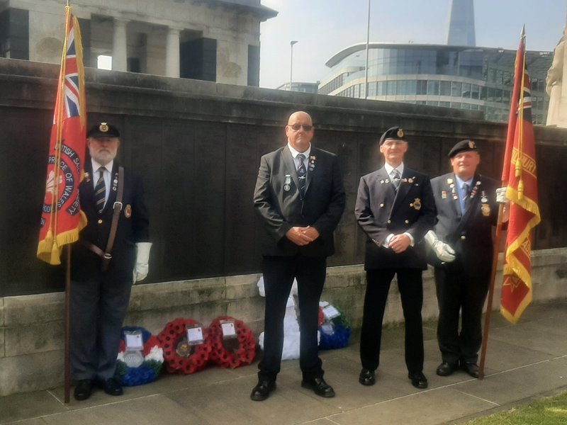 Merchant Navy memorial, wore the samas medal with pride, you will never be forgotten, luv ya bruv xxx