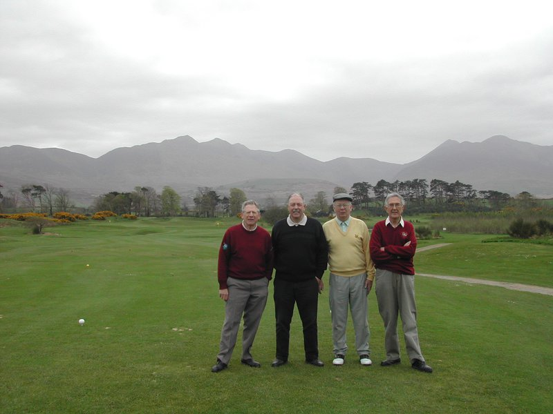 Our golf holiday in Ireland, with Don, Trevor and myself.