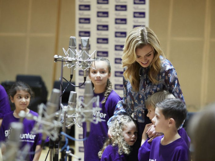 Katherine Jenkins with members of the Grief Encounter Children's choir