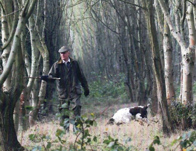 Colin enjoying a day in the countryside beating with friends  at Tower Shoot.