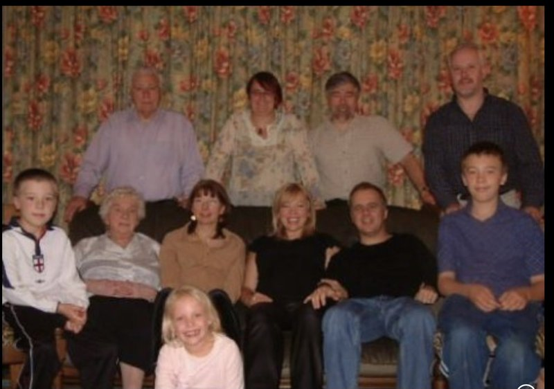 The whole family ( even Tabitha in utero) minus some of the later additions