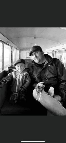 Steve with his baby boy Elijah