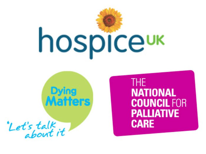 Hospice UK, NCPC and Dying Matters logos
