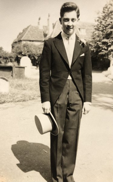 1955 Jim at sister Margaret and Stanley's wedding.