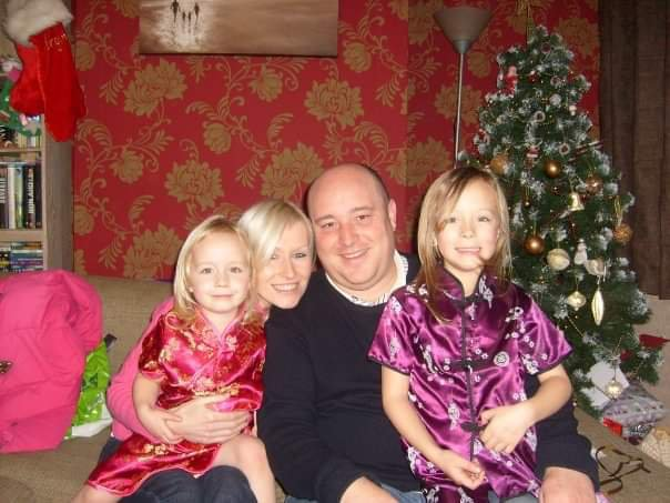 Georgina & Alexi seeing the New Year in with Uncle Dal & Auntie Tanya
