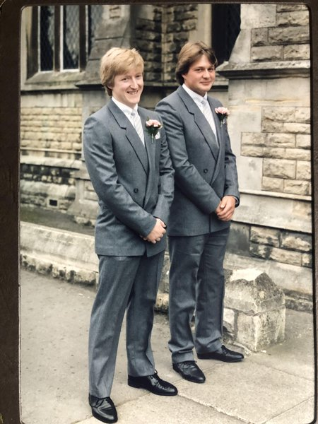Over thirty years ago, Chris was our best man.  Can't believe he has gone.