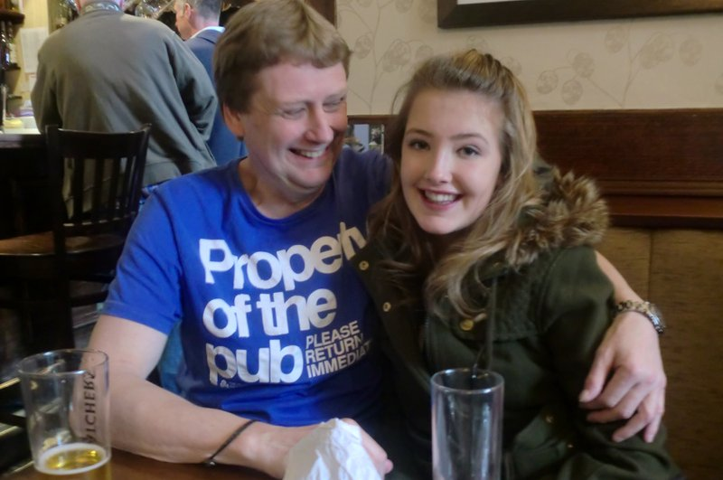 My favourite photograph of Uncle Dave, and Georgia. Unsure as to when it was taken <3