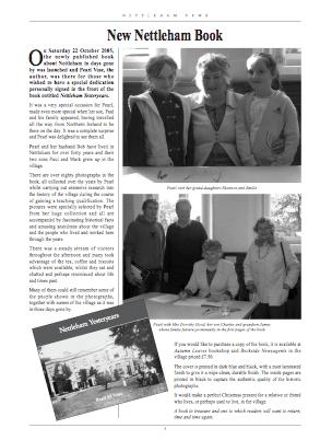 Nettleham News Winter 2005 article about Pearl's Book
