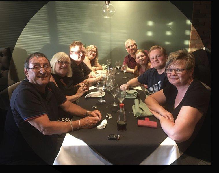 Enjoying a family meal