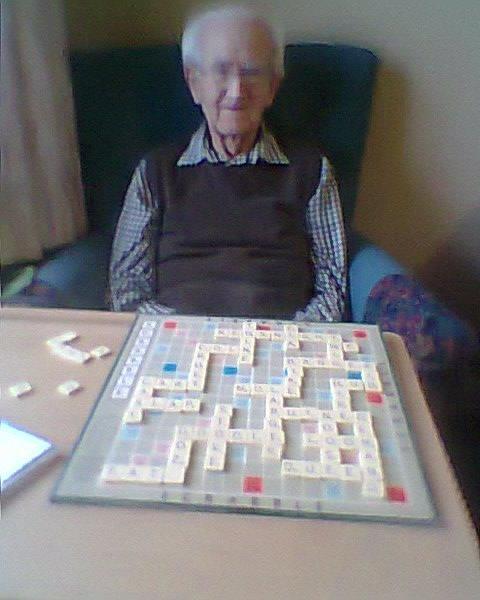 King of the Scrabble board.