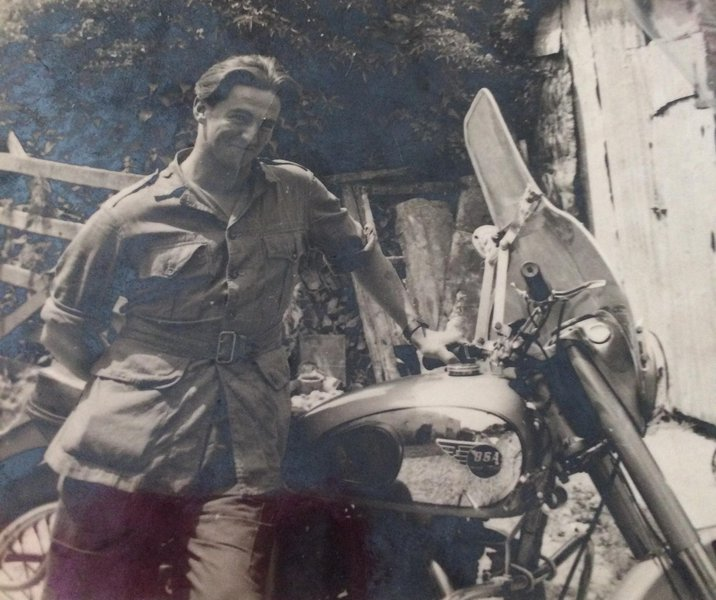 dad with his bike