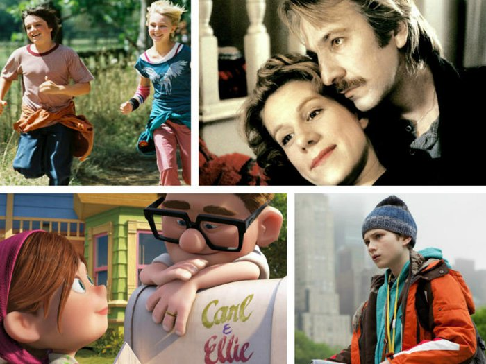 Films about grief and loss: Bridge to Terabithia, Truly Madly Deeply, Up, and Extremely Loud and Incredibly Close