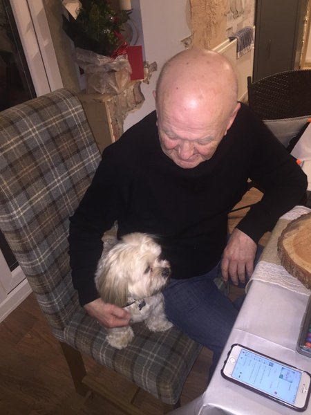 dad with his best pal - indi