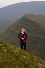 In his element / the elements - with family and made it up the hill and  back down again!! A stunning view xx