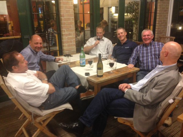 Our last dinner in Luxemburg, June 2013, the last one of so many great evenings..