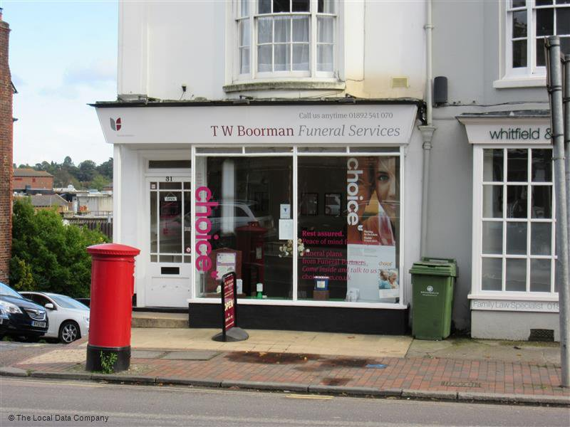 T W Boorman Funeral Services, Tunbridge Wells
