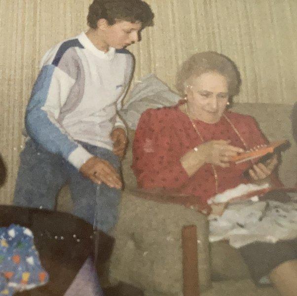 Nigel's Christmas time with Nana Ryan
