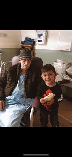 Nonno with his grandson.
