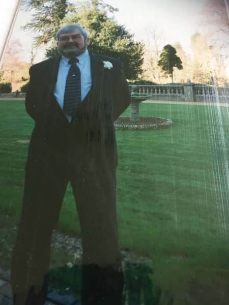 Stuart looking very smart at our wedding at Botley Grange 16.02.02.
