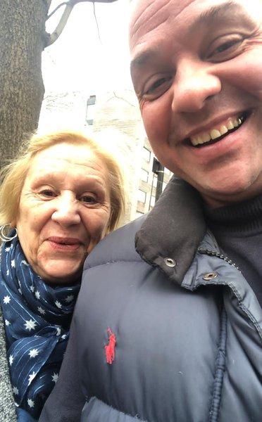 Paul with his mum