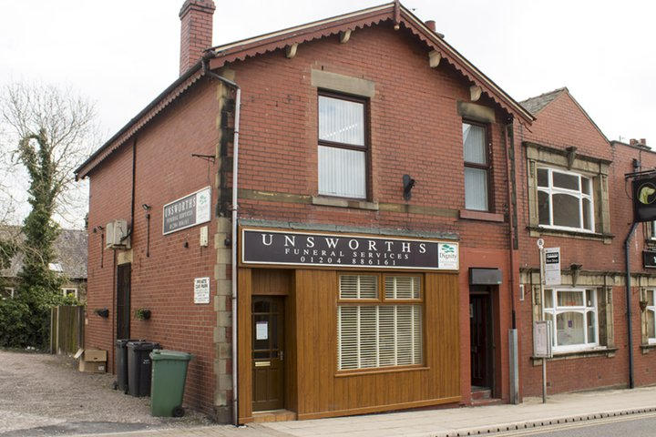 Unsworths Funeral Directors, Bury Market St
