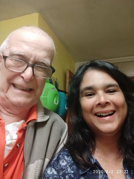 My best mate father in law on my birthday day August 2020
