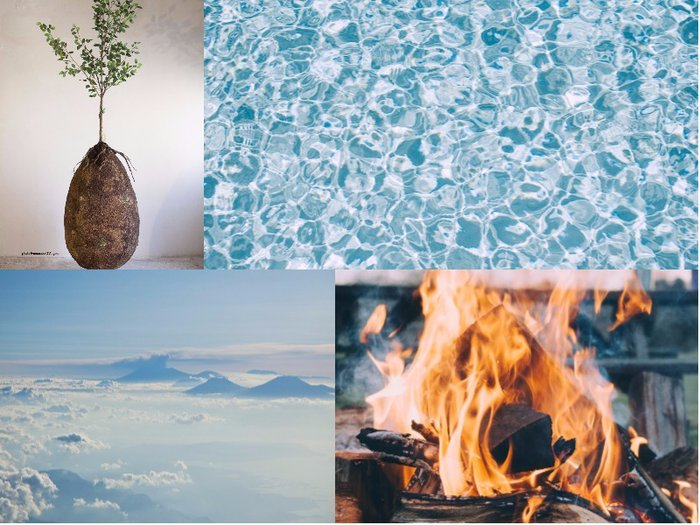 A montage of the four elements