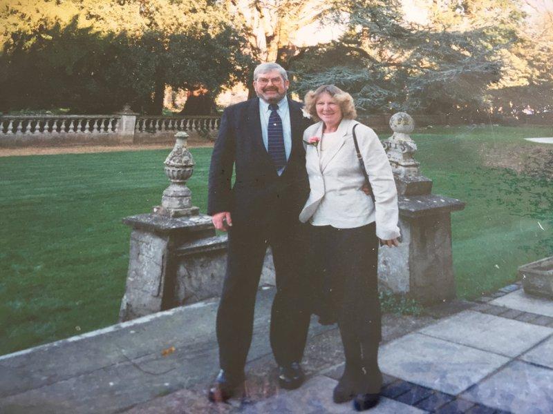 Stuart and his very good friend Eileen Lemoignan at our wedding at Botleigh Grange 16.02.02