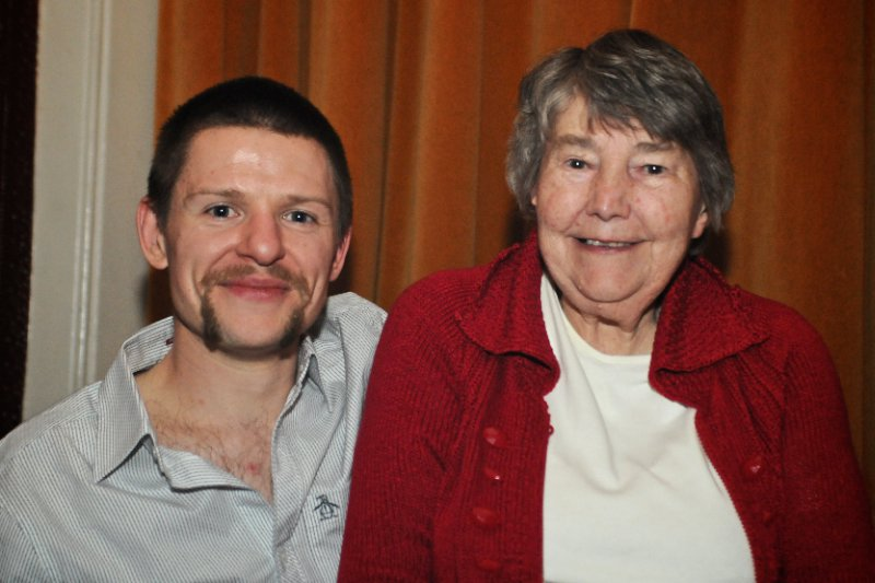 Gran and me in 2010.