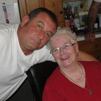 with Neil, celebrating Edna's 85th birthday