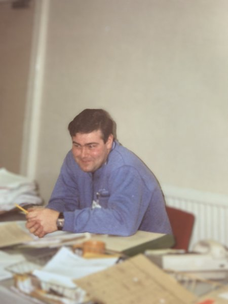 Dave in the office where I met him in 1991.