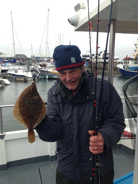 This picture reminds myself and lee Richards son of the day he thrashed lee while out fishing for plaice this was his first ever plaice and did not want lee to forget that taking the mick all afternoon the smile on his face says it all. Rip a brilliant and funny angler