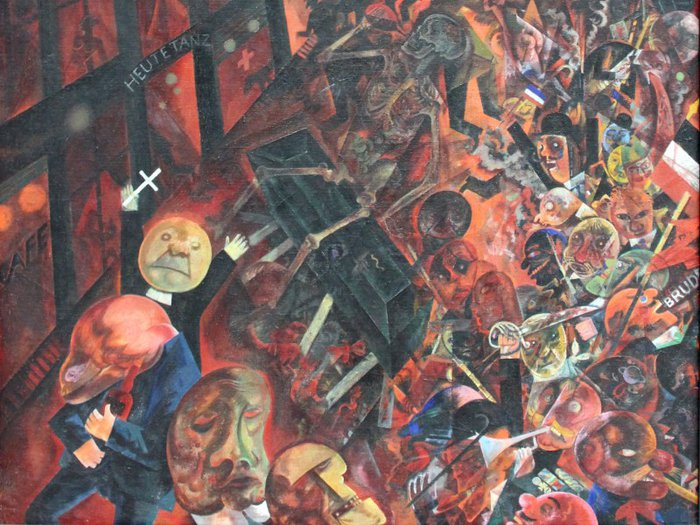 Scene from George Grosz's A Funeral: Tribute to Oskar Panizza