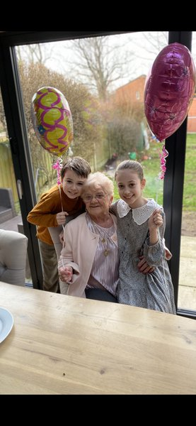 Our nanny Charlie we miss you so much and your big hugs and kisses thanks for everything you done for us love your phoebe and Harry x