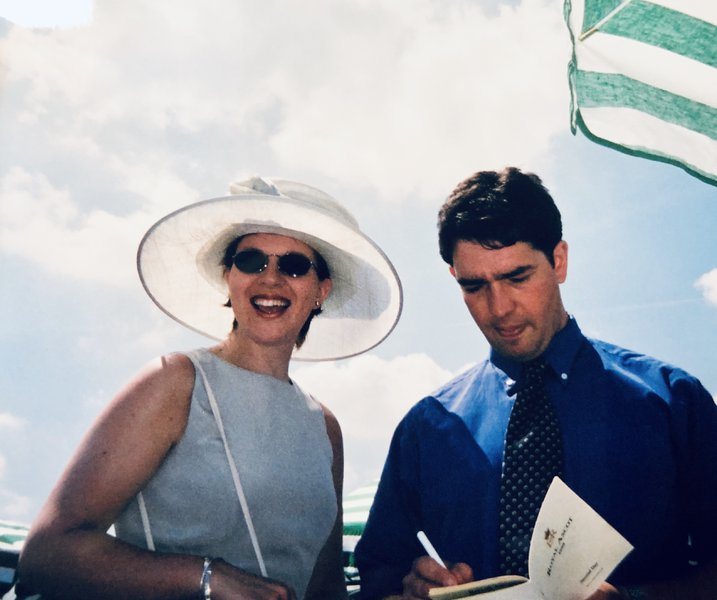 One of the many happy family times we had at Goodwood over the years