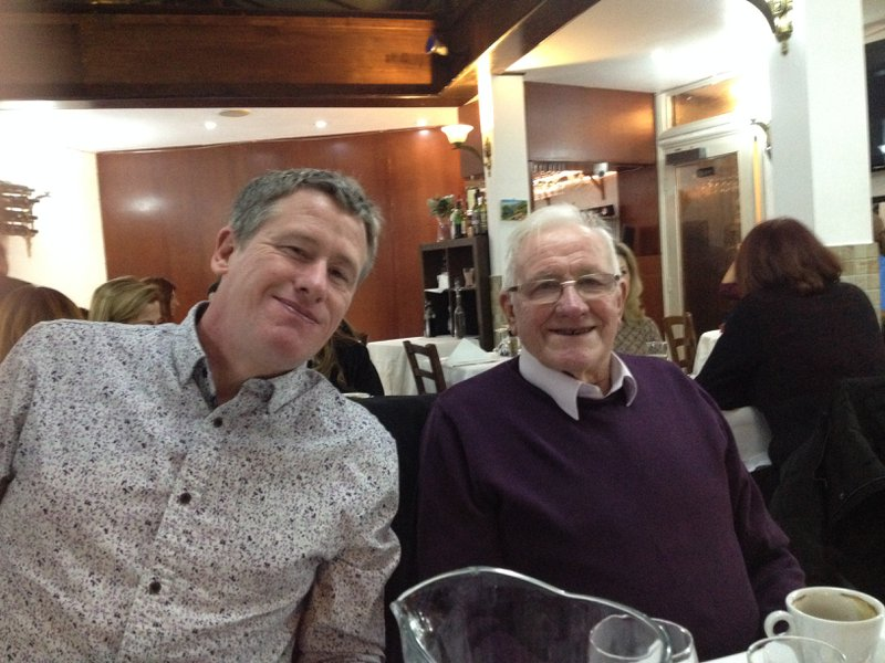 Dads 85th with Geoff