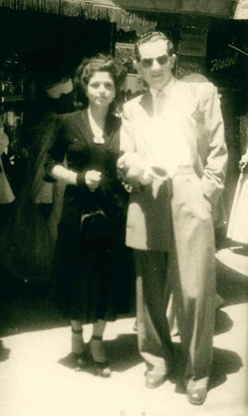 On his honeymoon before coming to Australia - 1949