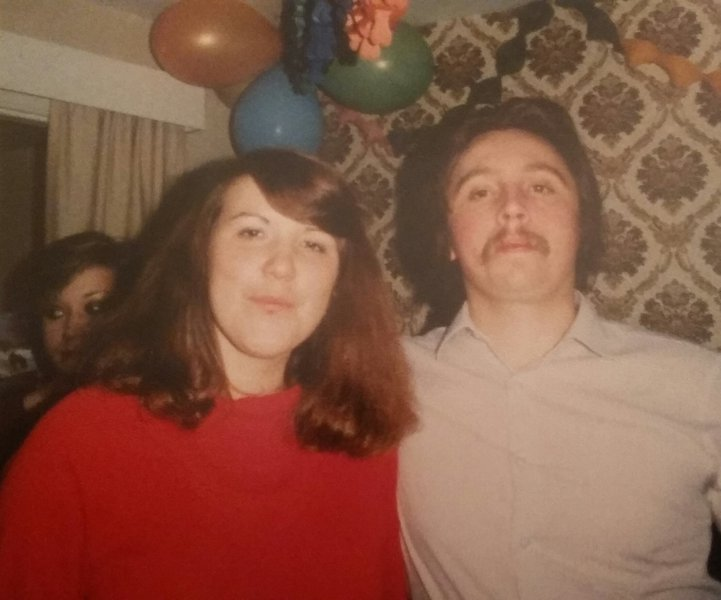 Mark and Kim. New Years Eve 1980 or 81