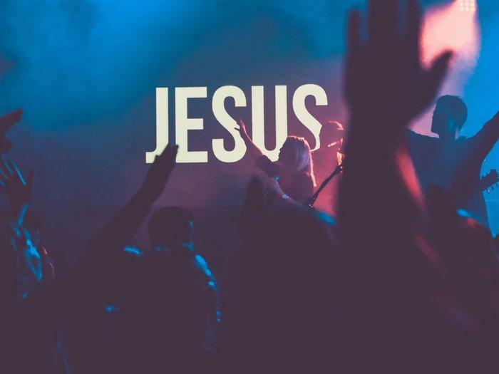 Jesus - people singing at church