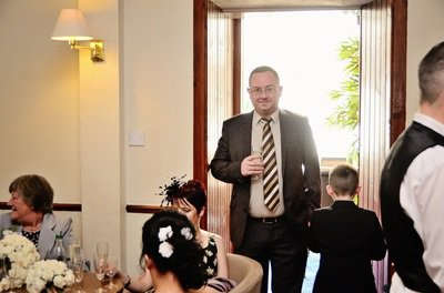 Great photo of a great guy at our wedding. Your first date. What a gentleman.