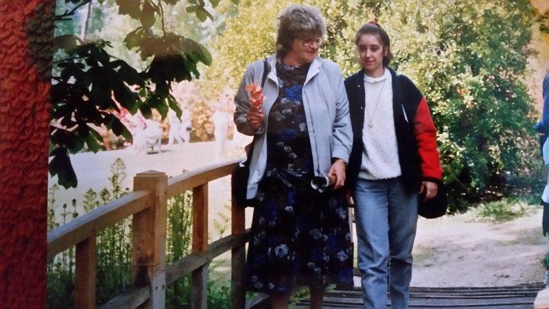 June with mum at Exbury Gardens