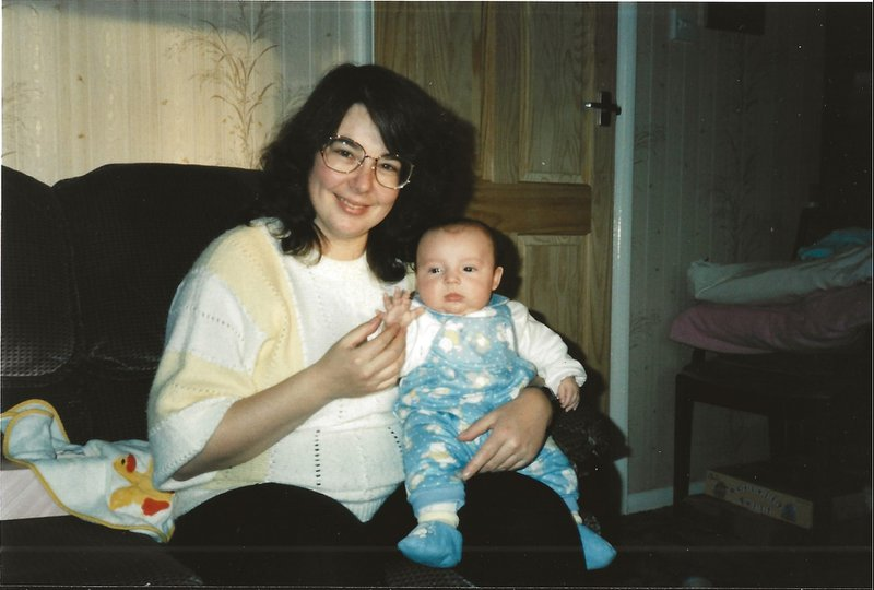 06-12-1990 Val with Steven
