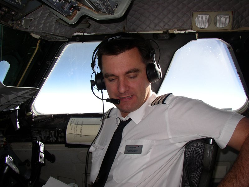 A reassuring sight for any Captain - James in the right hand seat of Concorde (circa 2002)