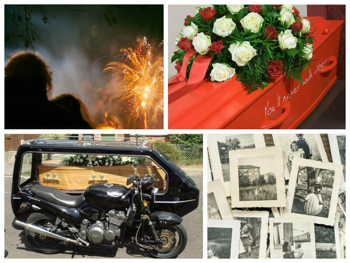 Creative funeral ideas, alternative funeral hearses and scattering ceremony
