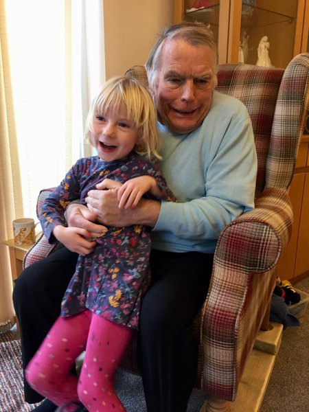 Mick with his beloved grand daughter, Tabitha.