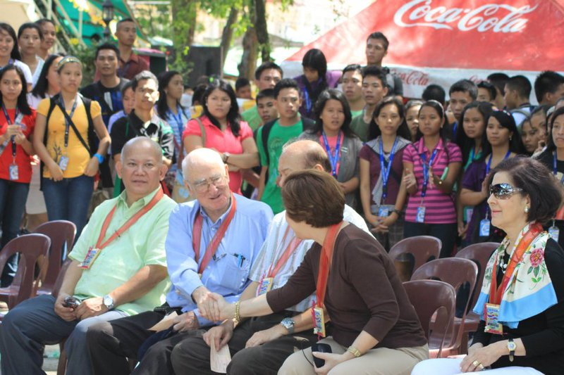 Reminiscing a Bago City College Day (Philippines) Celebration with Senator and Mrs. Magsaysay, Engr. Sharp, Mrs. Menchu Salas (widow of UN Rafael M. Salas) and with the students!