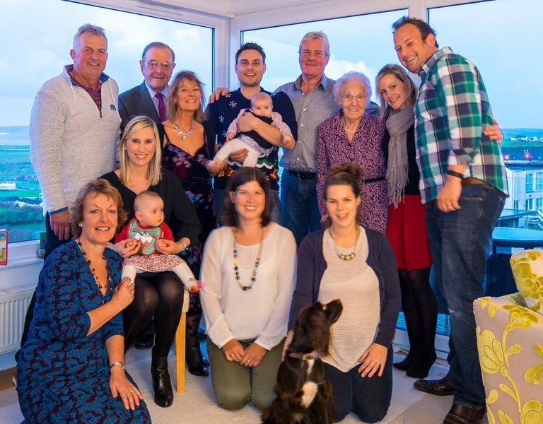 Family photo in Devon