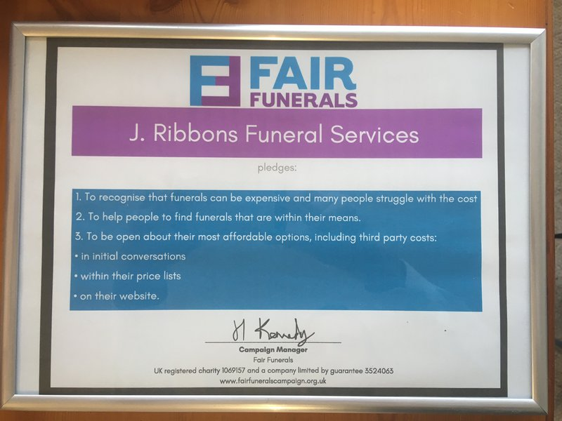 J. Ribbons Funeral Services, East Riding of Yorkshire, funeral director in East Riding of Yorkshire