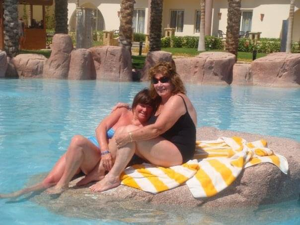 We had the best holiday together, do you remember when we jumped on the bedding truck after too many brandy's because we cloud them face the walk up the hill to our room, memories I will treasure forever, love you mum xxx❤️😘💔